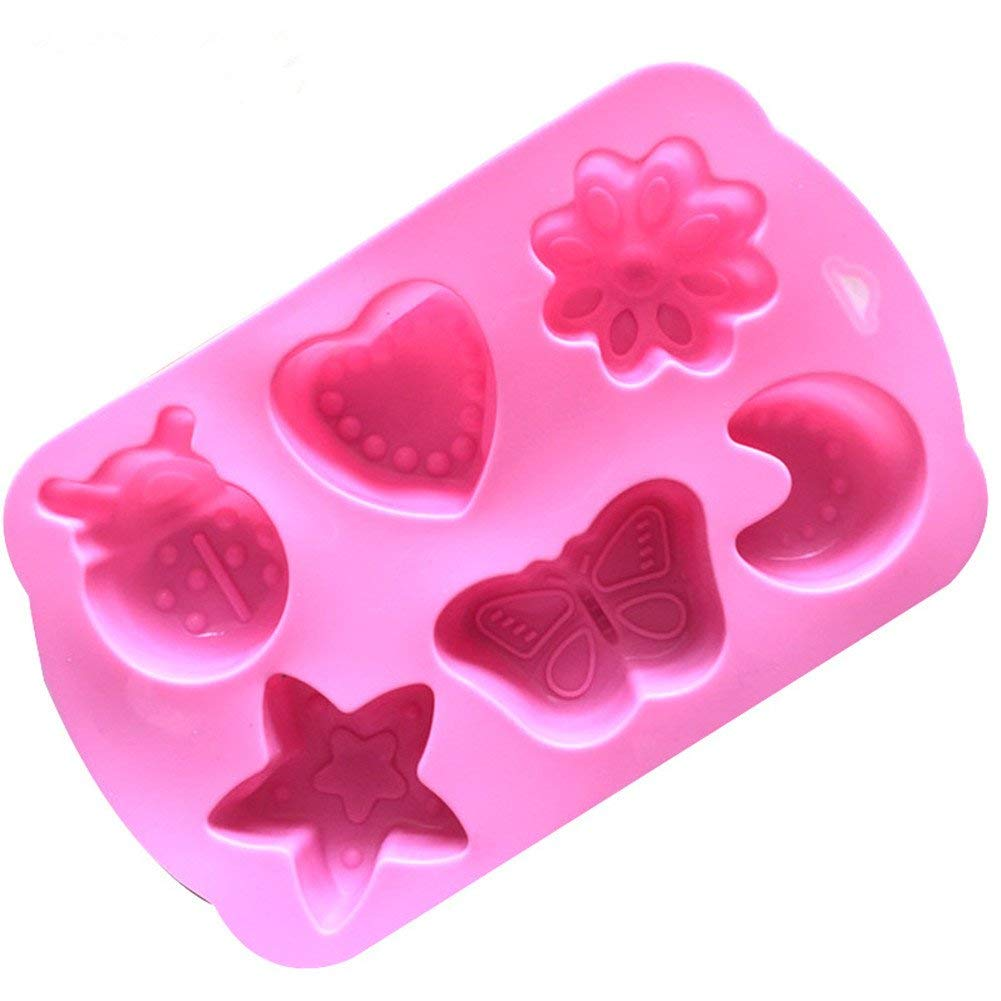 Yevison Premium Quality Craft DIY Moulds Creative Shape Cake Mold Food Silicone Fondant Decorating Mould Cutter Sugar Chocolate Cake Jelly Ice Fondant Mold Kitchen Baking Tools