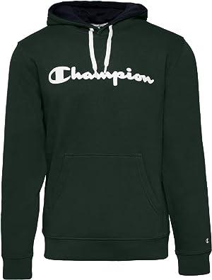 Champion 213424 Sweatshirt avec capuche A I Vert M