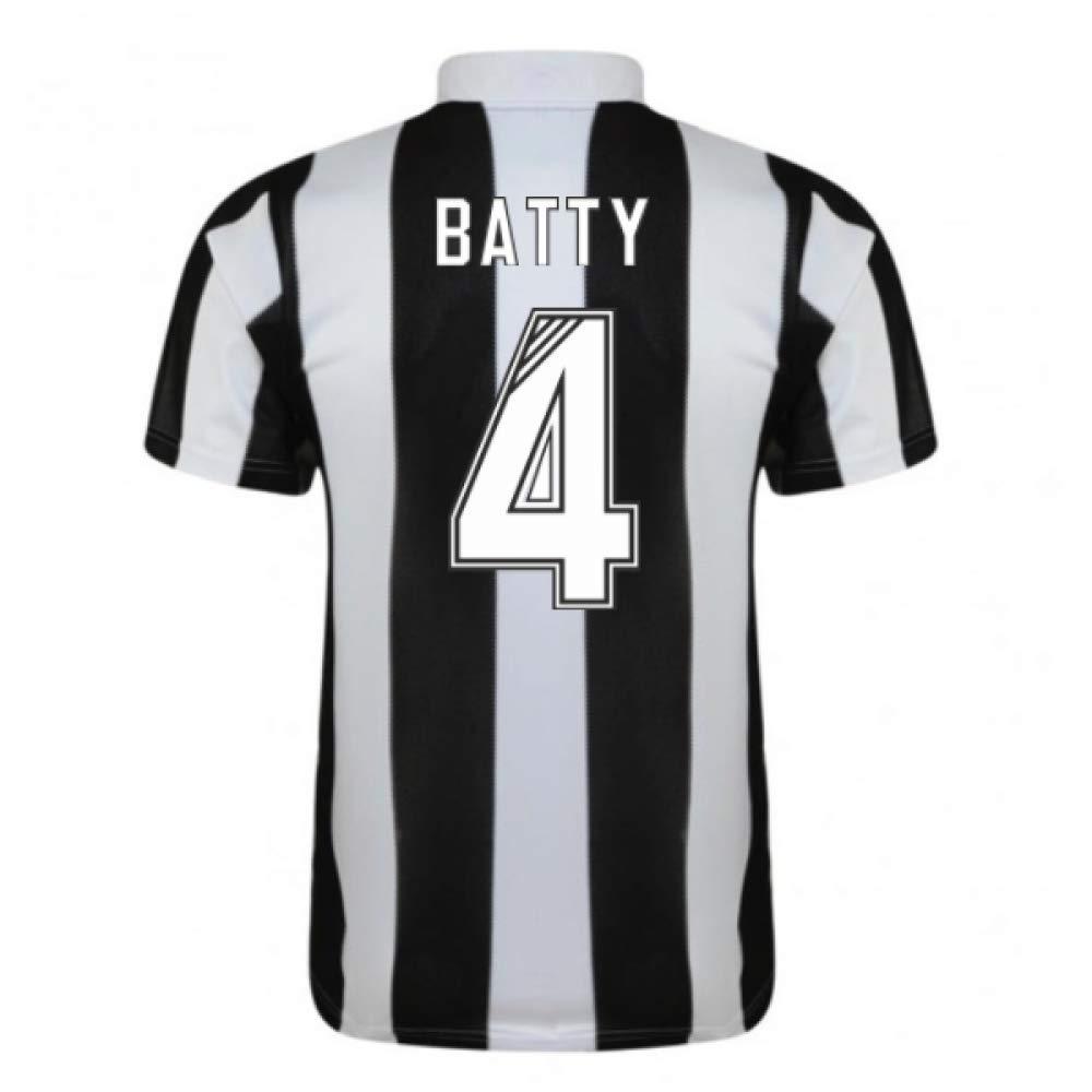 1996-97 Newcastle Home Football Soccer T-Shirt Trikot (David Batty 4)