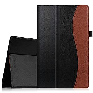 """Fintie Folio Case for Fire HD 10 (Previous Generation - 5th) - Slim Fit Premium Vegan Leather Stand Cover with Auto Wake/Sleep for Amazon Fire HD 10.1"""" Tablet 2015 release, Dual Color"""