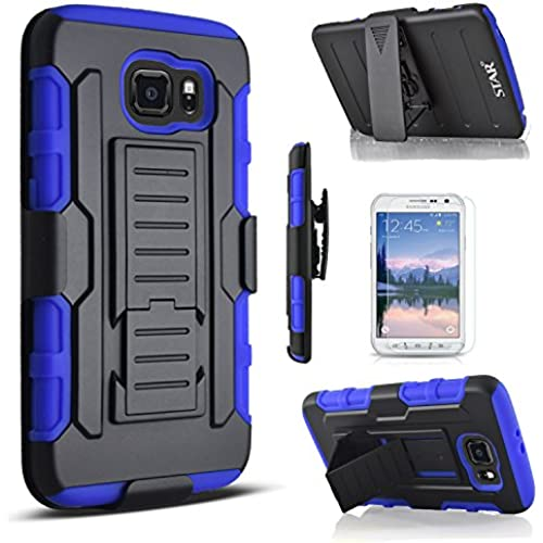 Galaxy S8 Case, Starshop [Heavy Duty] Dual Layers Kickstand Case With Locking Belt Clip (Blue) Sales