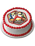 "Power Rangers 7.5"" Round Edible Cake Topper (Each) - Party Supplies"
