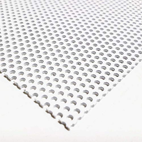(Online Metal Supply White Painted Aluminum Perforated Sheet, 0.040