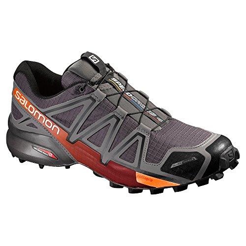 Salomon Mens Speedcross 4 Cs Trail Runner Grigio