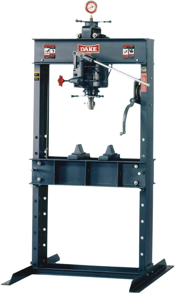 Dake 972210 F-10 Floor 10-ton Manual H-frame Press