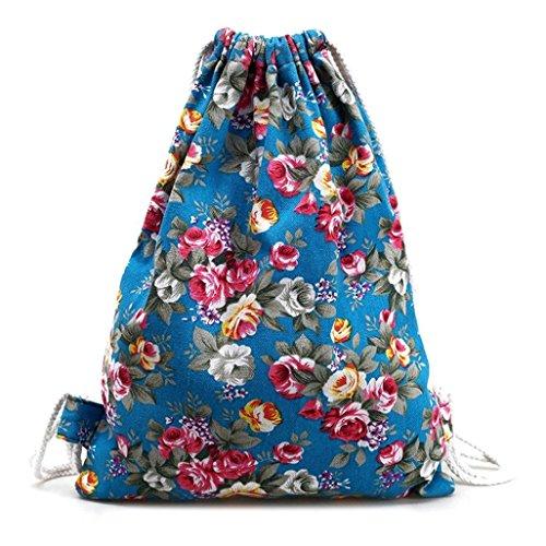 LAAT - Bolso mochila  para mujer Printing Blue 8 Printing Blue