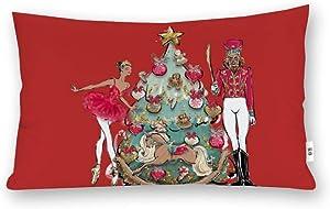 VinMea Decorative Pillow Covers African American Nutcracker Ballet Dancer Throw Pillow Case Cushion Cover Home Decor,Square 12 X 20 Inches