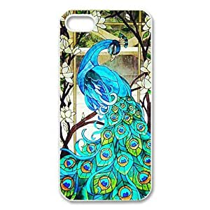iphone 5 Case/iphone 5s Covers Hard Back Protective-Unique Design Cute Peacock Bird painting Printed Case Perfect as Christmas gift(3)