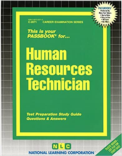 Human resources technicianpassbooks career exam ser jack rudman human resources technicianpassbooks career exam ser jack rudman 9780837320717 amazon books fandeluxe Choice Image