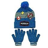 Mario Kart Justice League Batman Winter Hat With Cuff and Mitten | Glove Set