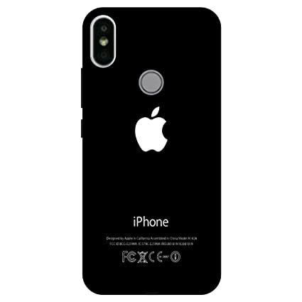 buy online 6b701 00d31 Artage Apple Logo Printed Polycarbonate/Plastic Back Cover Case for Redmi Y  2 (Black)