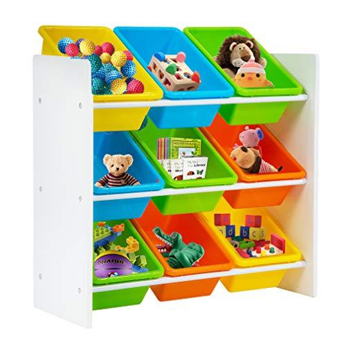 Plastic Toy Organizer (Kids Toy Storage Organizer with Plastic Bins, Storage Box Shelf Drawer)