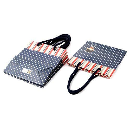 DealMux Papel Dot Stripe Soldado Padro aniversrio 4pcs dom presente Embalagem Sacos Titular Azul-marinho