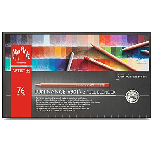 Caran d'Ache Luminance 6901 Clr Pncl Set 76 Artist Rng (Caran D Ache Museum Aquarelle Pencils Review)