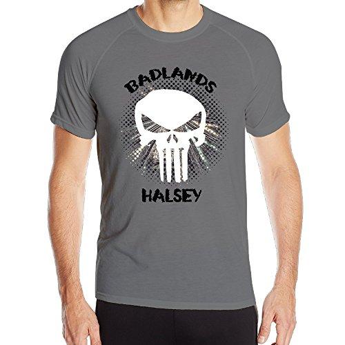 PTR Men's Particular Halsey Badlands Skull Logo Training Short Sleeve Size 3X DeepHeather]()