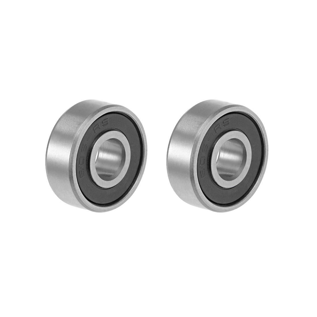 sourcing map 695-2RS Deep Groove Ball Bearing 5x13x4mm Double Sealed ABEC-3 Bearings 2-Pack