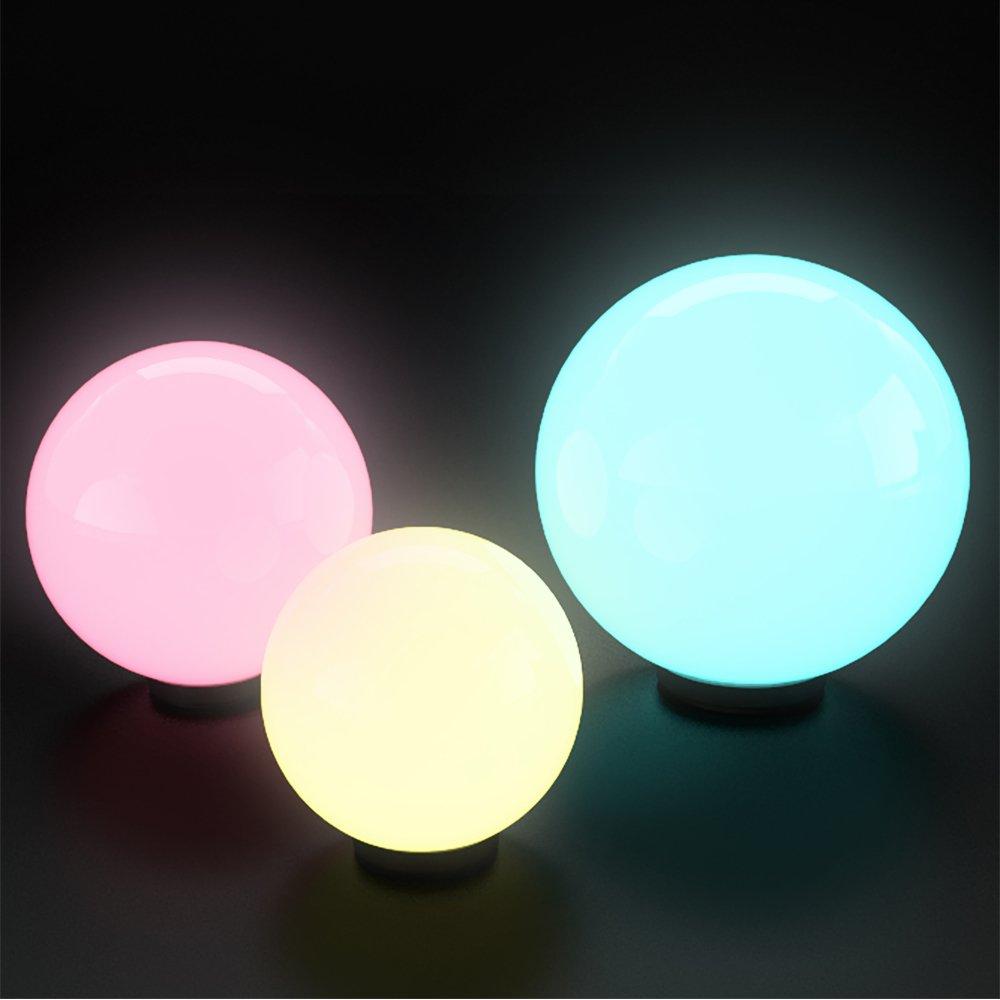 Kugelleuchte Kugellampe Gartenlampe 3er Set 30-40-50cm (Farbwechsel ...