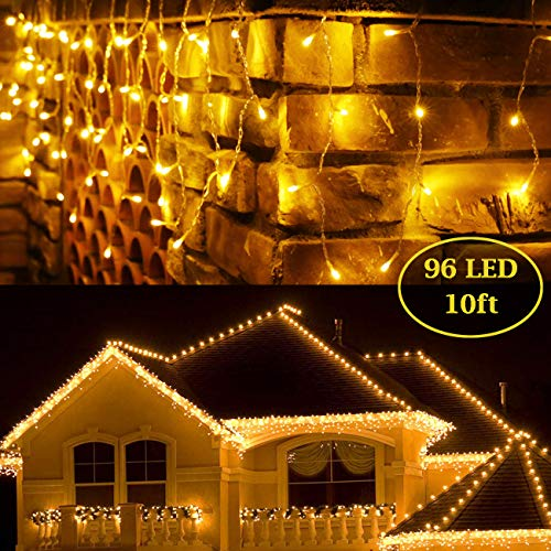 BaiYunPOY 10 Ft 96 Led Icicle Lights