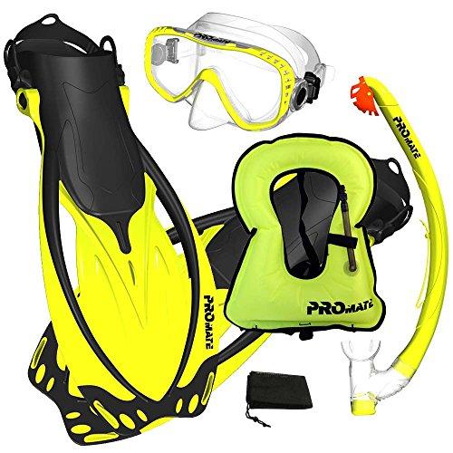 Promate Snorkeling Vest Jacket Mask Fins DRY...