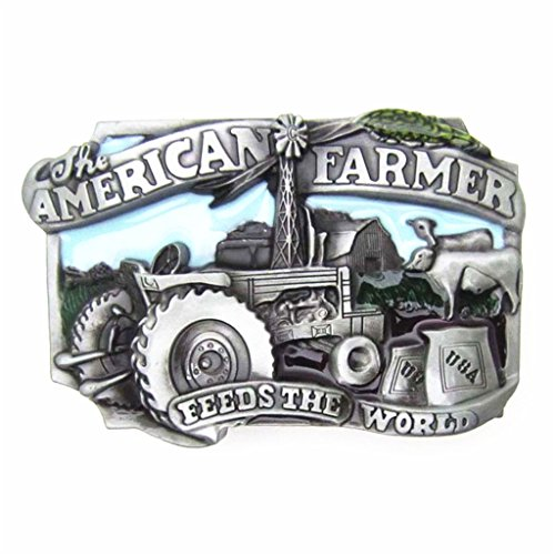Silver Buckle Ranch (MASOP Men's American Farmer Belt Buckle Western Cowboy Ranch Machine Tool)