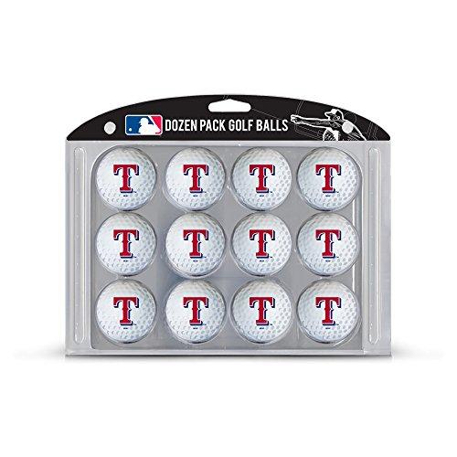 Team Golf MLB Texas Rangers Dozen Regulation Size Golf Balls, 12 Pack, Full Color Durable Team Imprint ()