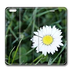 Brain114 6 Plus, iPhone 6 Plus Case, iPhone 6 Plus 5.5 Case, White Flower 10 PU Leather Flip Protective Skin Case for Apple iPhone 6 Plus 5.5