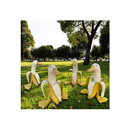 bestheart Banana Duck,Statue Garden Yard Outdoor Decor,Art-Banana Duck Home Decor,Garden Decor and Figurines Outdoors Duck Ornaments for Home Patio Yard Party Decor