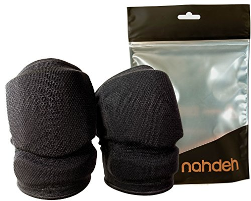 nahdeh Volleyball Knee Pads - NO Bruised Knee Guarantee - Our Universal Silicon Gel Pads are Great Absorbing Impact Better Than Sponge Foam Pads