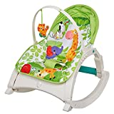 Livebest Lightweight Green Lullaby Cradle Kids Swing Chair with Music