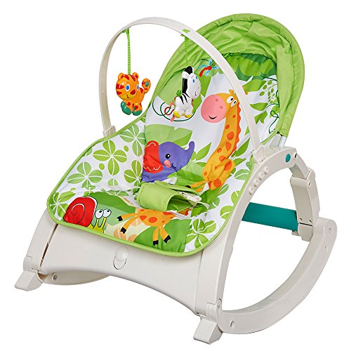 Livebest Lightweight Green Lullaby Cradle Kids Swing Chair with Music by Livebest