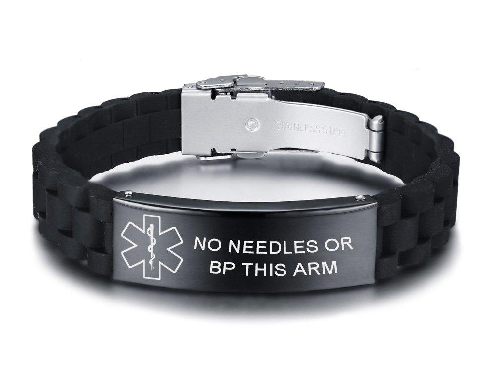VNOX NO Needles OR BP This ARM Medical Alert ID