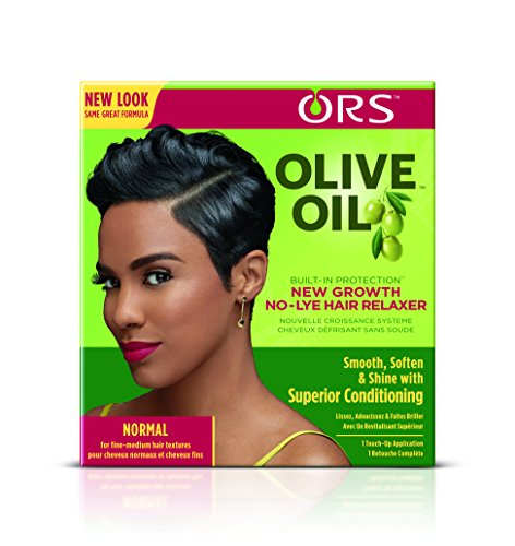 ORS Olive Oil Built-In Protection New Growth No-Lye Hair Relaxer System - Normal (Pack of 6)