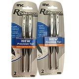 I-N-C R-2 Precision 0.5 Roller Ball Pens, Black, 2 Count