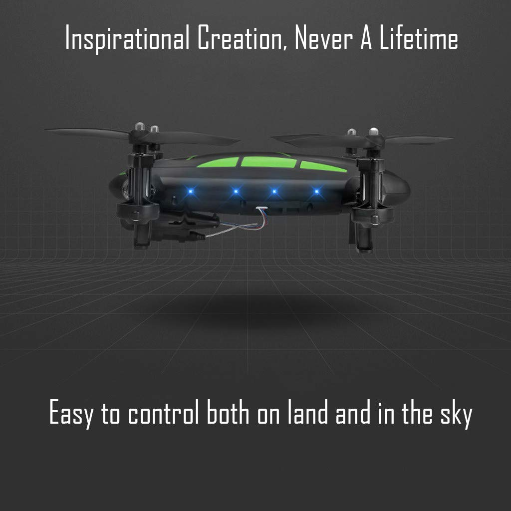 COLOR-LILIJ FY602 Land Air Dual Mode - WiFi FPV RC Control Airplane - 17.5 X 13.8 X 7cm, Drone Car - 15 X 13 X 6cm, with Altitude Hold Headless Mode, 2.4G - 4CH - WiFi Enabled FPV Camera by COLOR-LILIJ (Image #7)
