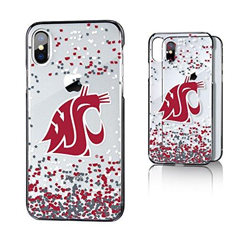 Keyscaper KCLRIX-0WST-FETTI1 Washington State Cougars iPhone X/XS Clear Case with WSU Confetti ()