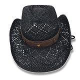 AccessHeadwear Old Stone Lacey Women's Cowboy Drifter Style Hat, Black