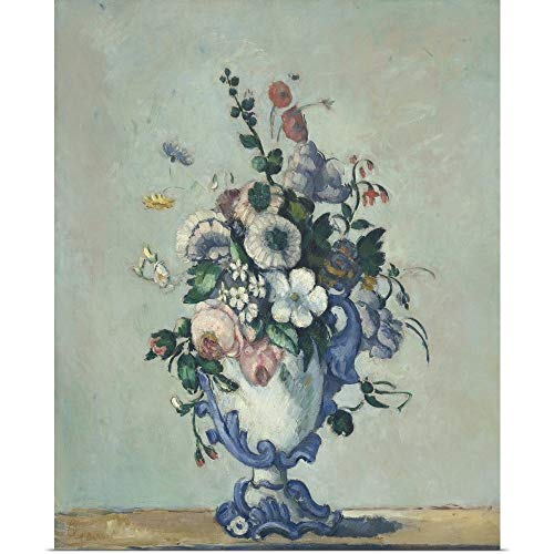 GREATBIGCANVAS Poster Print Entitled Flowers in a Rococo Vase, by Paul Cezanne, 1876 by Paul Cezanne 16