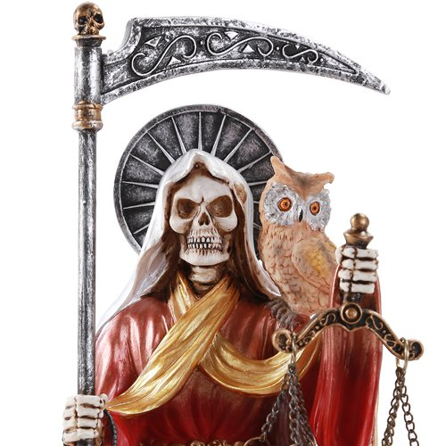 Pacific Giftware Santa Muerte Saint of Holy Death Seated Religious Statue 9 Inch Seven Powers (Rainbow)