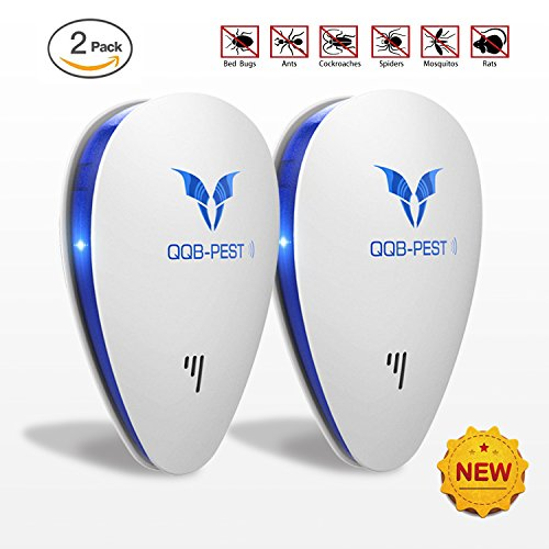 [2018 UPGRADED] Ultrasonic Pest Repeller-Electronic Mouse Repellent Plug in Pest Control-Pest Repellent for Mice,Rat,Bug,Spider,Roach,Ant,Mosquito,Fly - No More pest (2 pack) - Ant Killing Spray