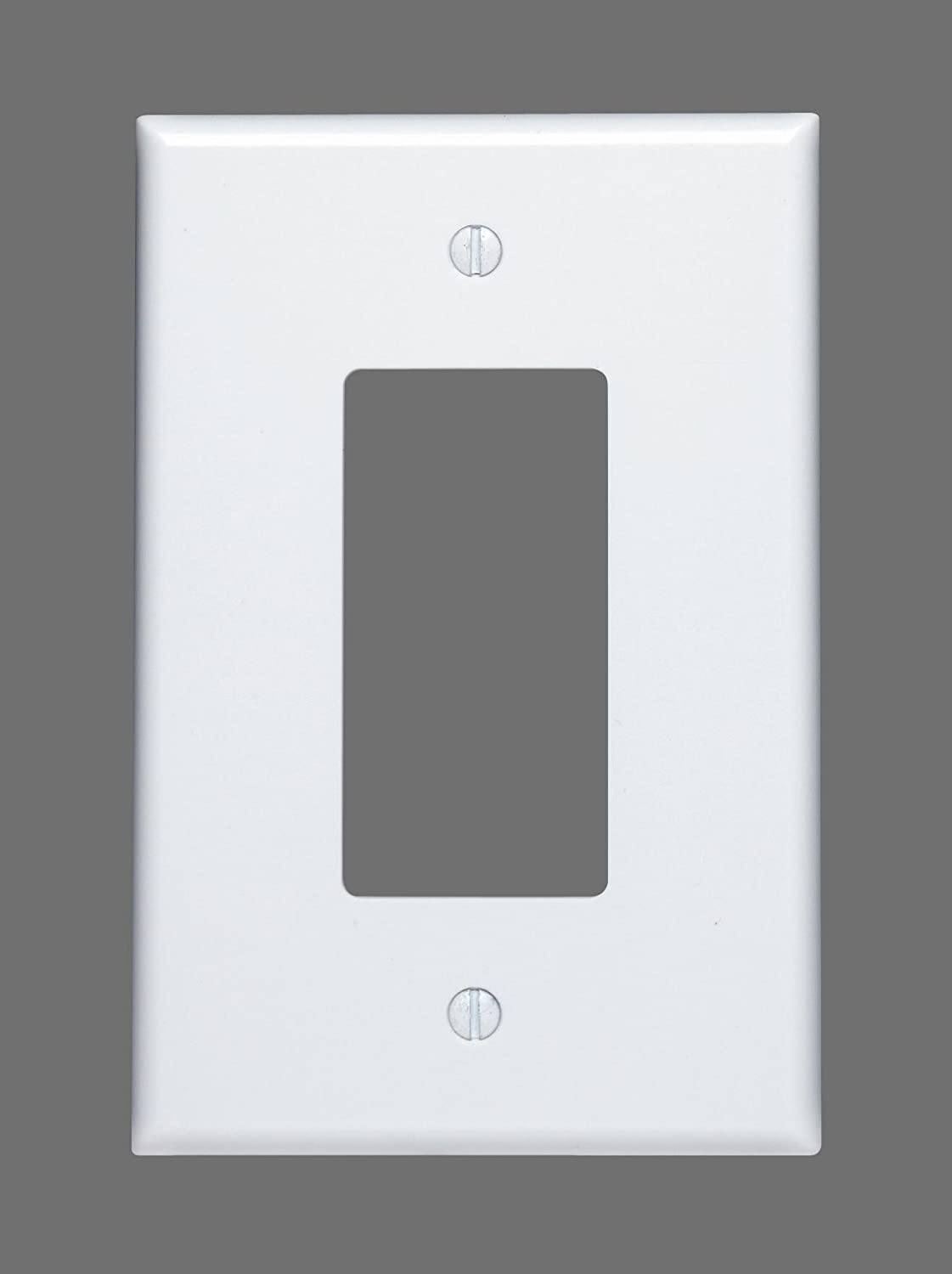 Leviton 88601 1-Gang Decora/GFCI Device, Wallplate, Oversized, Thermoset, Device Mount, White