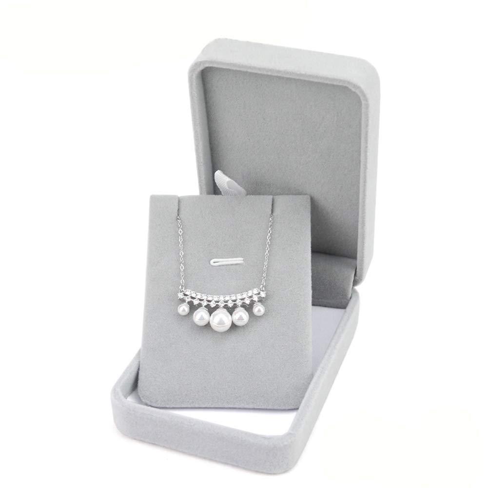 JUNGEN Bo/îte /à Pendentif Gris Flanelle Bo/îte /à bijoux R/écipient de Bague Boucle doreille pour Accessoires de Mariage 6 5cm 4.7 Gris 1