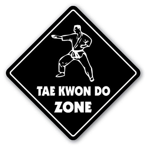 TAE KWON DO ZONE Sign Decal Sticker xing gift novelty martial arts master student