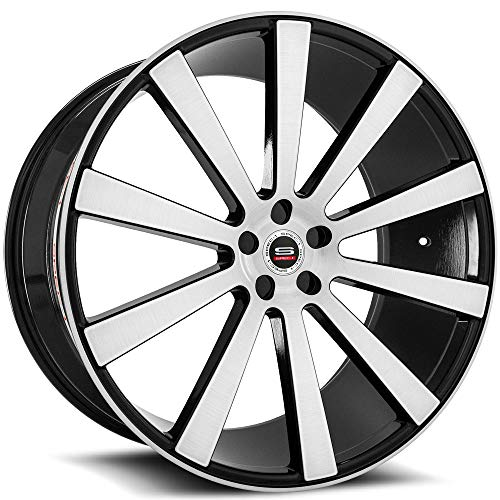 SPEC-1 Luxury SPL-002 Gloss Black Brushed Wheels (22x9