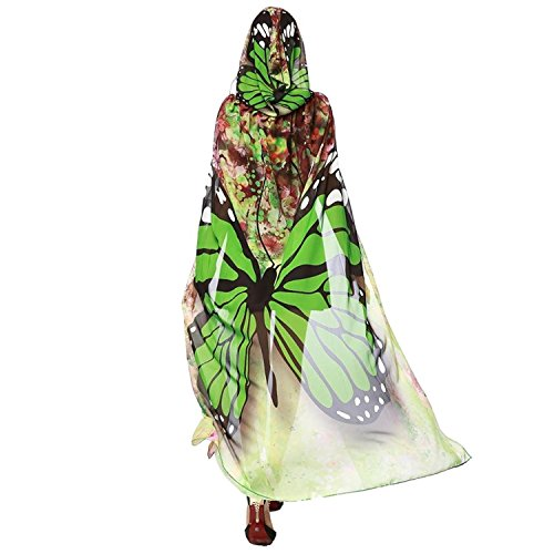 Shireake Baby Christmas/Party Prop Soft Fabric Butterfly Wings Shawl Fairy Ladies Nymph Pixie Costume Accessory (140X100CM, Green1) … -
