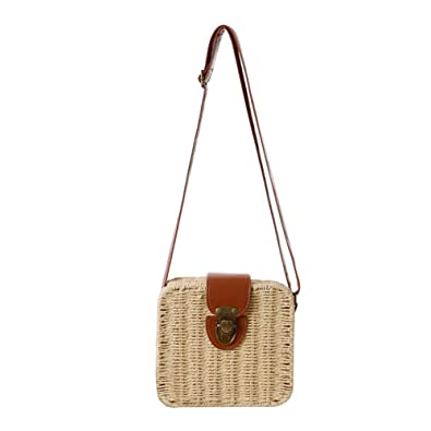 Handbag Beach bag made of rattan and polyester cotton 9cebeaa46d822