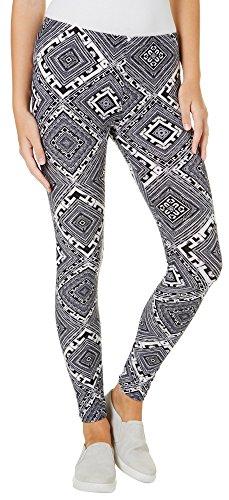 1ST KISS Juniors Geo Diamond Print Leggings One Size Black/White