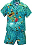 Pacific Legend Boys Marine Aquarium Fish Toddler 2pc Set Turquoise 1T for 1yr old offers