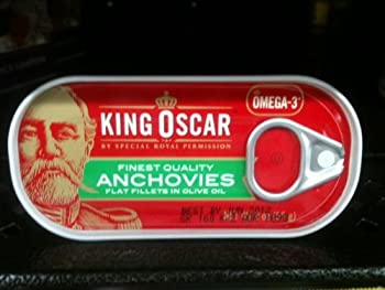 King Oscar Anchovies (Flat) 2 Oz can (Pack of 4)
