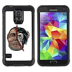 Hybrid Anti-Shock Defend Case for Samsung Galaxy S5 / Cool Man & Monkey