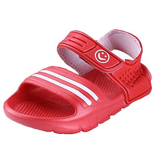 Highdas Verano Niños Playa Sandalias Anti-deslizante Vestir-resistant Pequeña Boy Casual Sandalias Chicas Chicos Zapatos Child Al aire libre Sandalias Rojo
